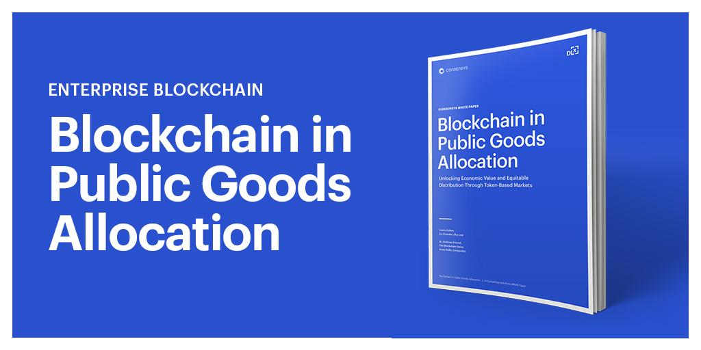 ConsenSys blockchain in public goods allocation social