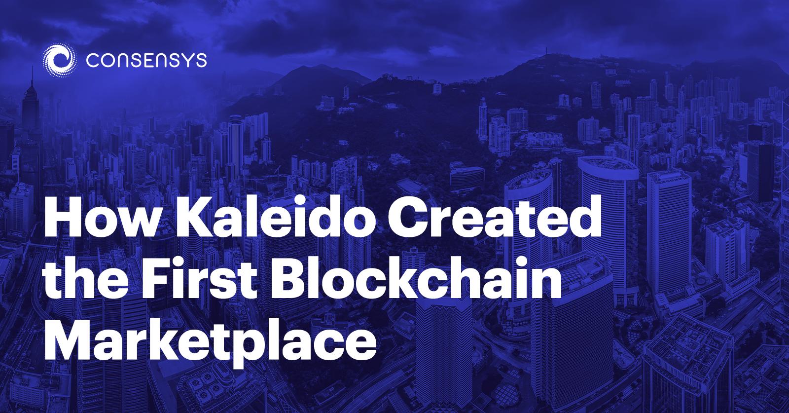 kaleido blockchain marketplace featured